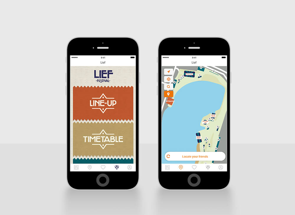 Lief festival app design