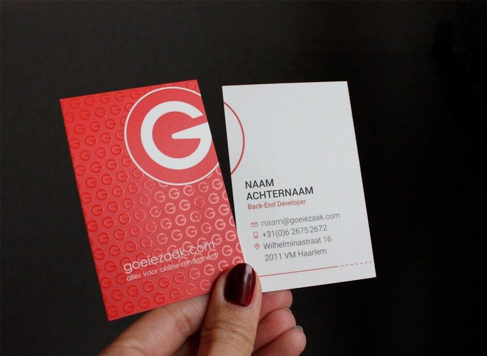 Goeiezaak-businesscards